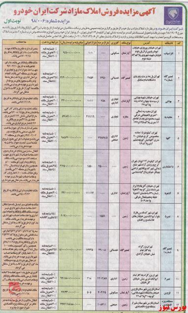 لیست 12گانه املاک مازاد
